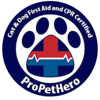 Cat and Dog First Aid and CPR Certified - Pro Pet Hero Badge - Doggy Day Care Services
